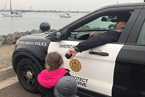 Police with kids - Police community engagement