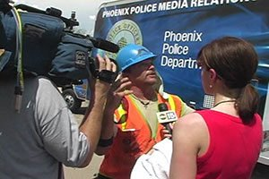 Police and Fire Scene Interview