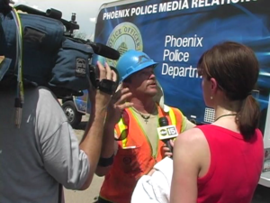 Police & Fire Scene Interview - Media Relations